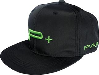 FLAT PEAK SNAP BACK  CAP GREEN LOGO