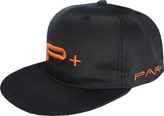 FLAT PEAK SNAP BACK CAP ORANGE LOGO