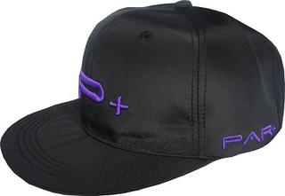 Flat Peak Snap Back Cap Purple Logo