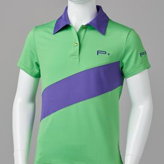 GIRL FITTED POLO GREEN/PURPLE