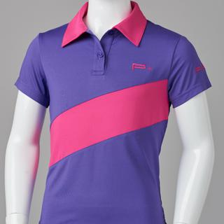 GIRL FITTED POLO PURPLE/PINK