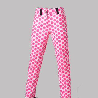 GIRLS GOLF TROUSERS PINK DOTS