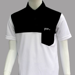 BOY POLO WHITE/BLACK POCKET