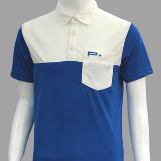 BOY POLO BLUE/WHITE POCKET