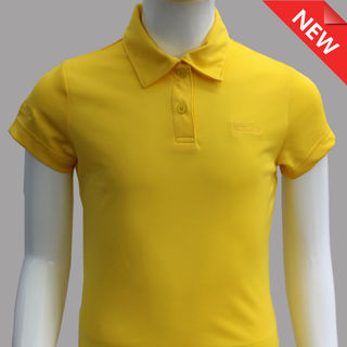 GIRL FITTED POLO YELLOW