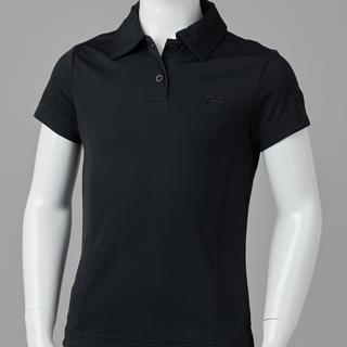 GIRL FITTED POLO BLACK