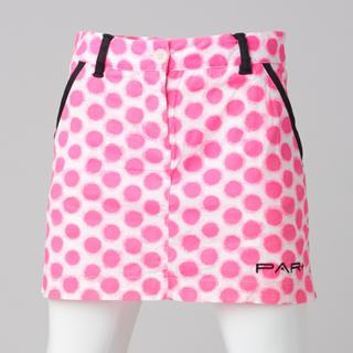 GIRLS GOLF SKORT PINK DOTS