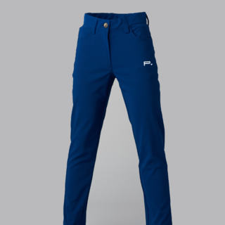 GIRLS GOLF TROUSERS BLUE - SILVER LOGO