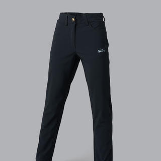 GIRLS GOLF TROUSERS BLACK - SILVER LOGO