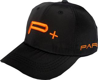 BLACK GOLF CAPS ORANGE LOGO