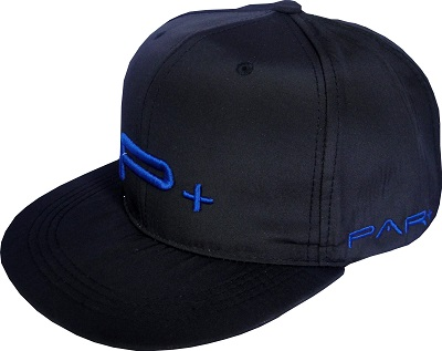 FLAT PEAK SNAP BACK  CAP BLUE LOGO