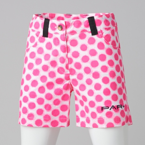 GIRLS GOLF SHORTS  - PINK DOTS