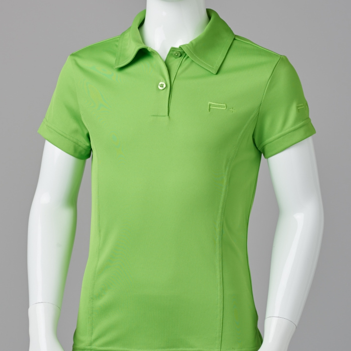 GIRL FITTED POLO LIME GREEN