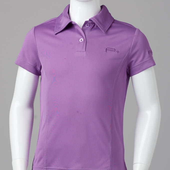 GIRL  FITTED POLO PURPLE