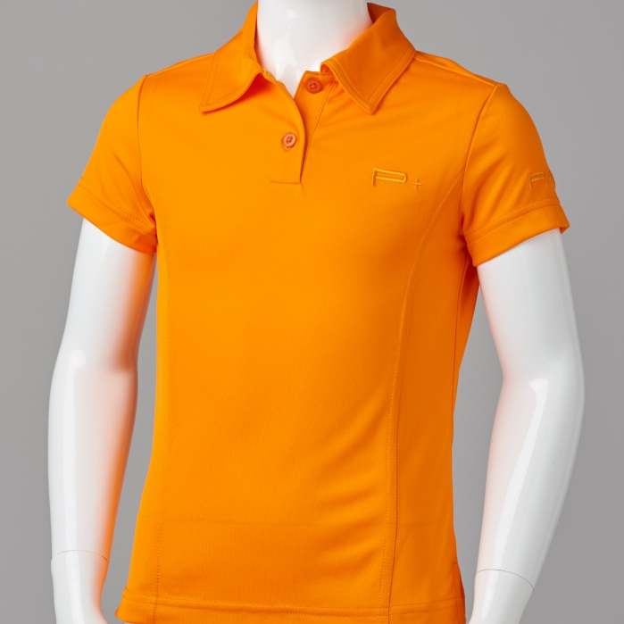 GIRL FITTED POLO ORANGE
