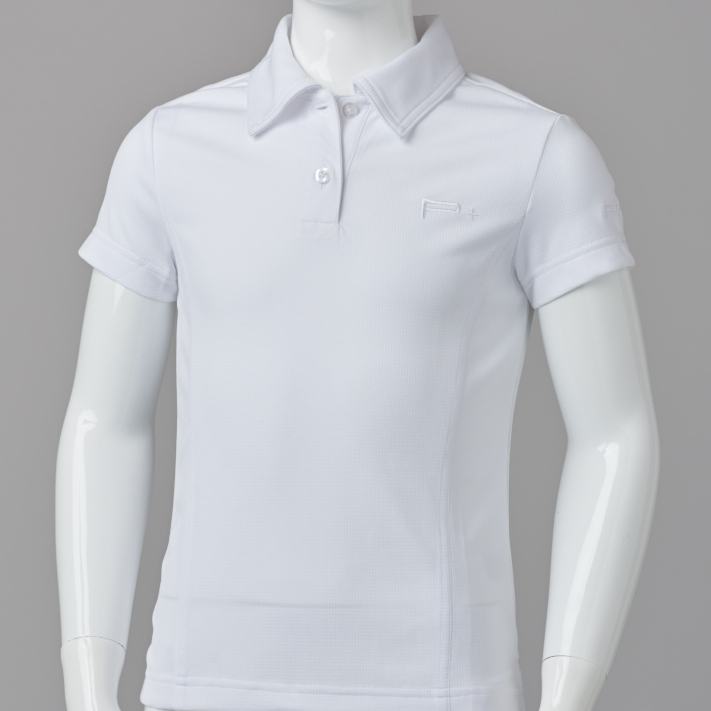 GIRL FITTED POLO WHITE