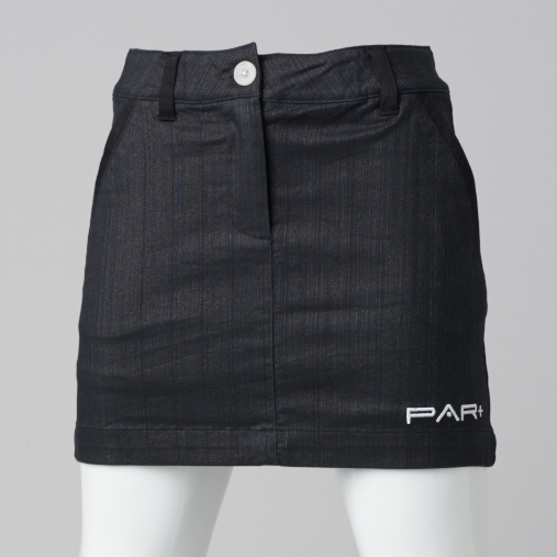 GIRLS GOLF SKORT BLACK BROWN TWILL