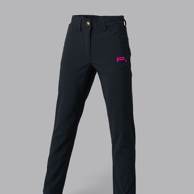 GIRLS GOLF TROUSERS BLACK - FUSION LOGO