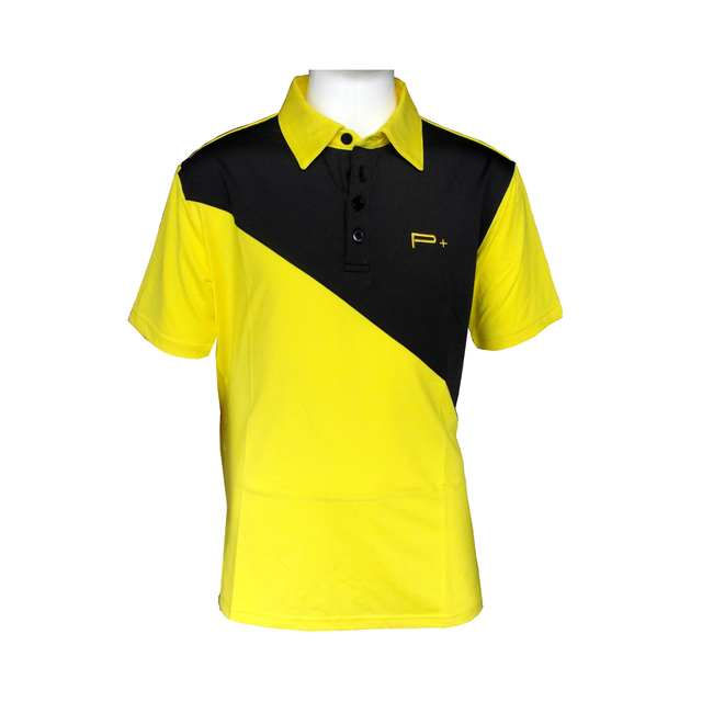 The gallery for blue polo shirt front and back for Yellow golf polo shirts