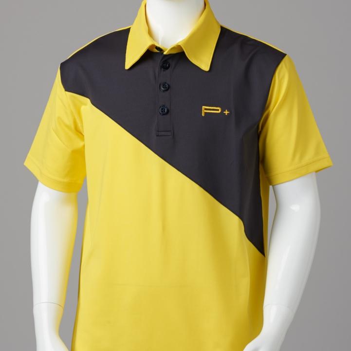 Boys golf shirts boys golf polo yellow black quality for Yellow golf polo shirts